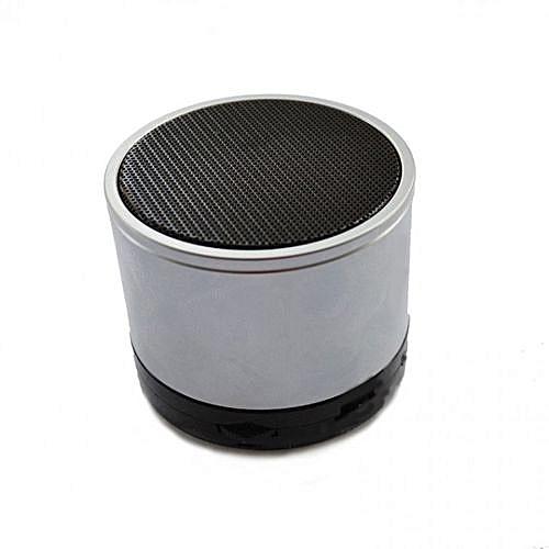 Mini Bluetooth Wireless Stereo Speakers FM, Memory Card, Bluetooth, USB - Silver