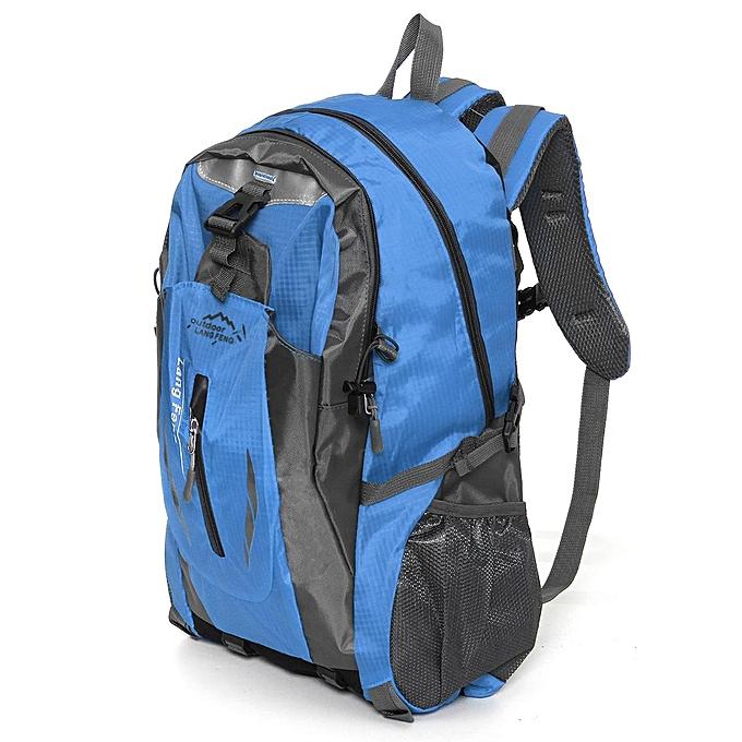 b6311e5739 ... Blue 40L Waterproof Outdoor Sport Hiking Camping Travel Backpack  Daypack Rucksack Bag ...