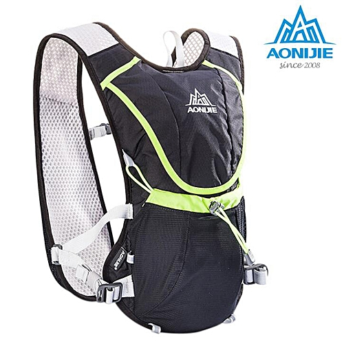 a3c2b80f94 Generic Sport Running Backpack Marathon Fitness Hydration Vest Pack Cycling  Hiking Bag 8L Capacity Lightweight Trail Racing Pocket(Black Color)
