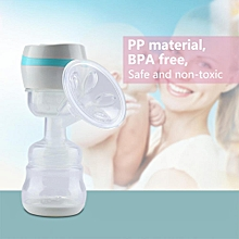 New One-Piece Electric Automatic Breast Pump Baby Infant Breastfeeding Set US 110-240V(Blue)