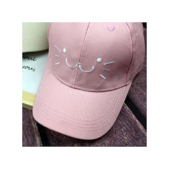 77d37f9b186 Braveayong Toddler Baby Kids Cartoon Cat Face Sanpback Baseball Hat Boy  Girls Hats Cap -Pink
