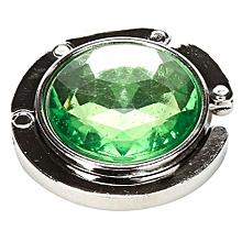 Portable Crystal Purse Handbag Hook Hanger Bag Holder Foldable Folding Green