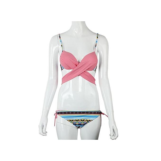 e17de89292ee4 ... Xingbiaocao Summer Sexy Women Bikini Set Push-up Padded Bra Swimsuit  Swimwear PK M ...