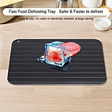 Metal Aluminum Fast Safe Food Meat Defrosting Thawing Tray Plate Home Kitchen Gadget