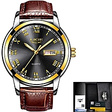 Fashion Casual Waterproof Quartz Watch Men Military Leather