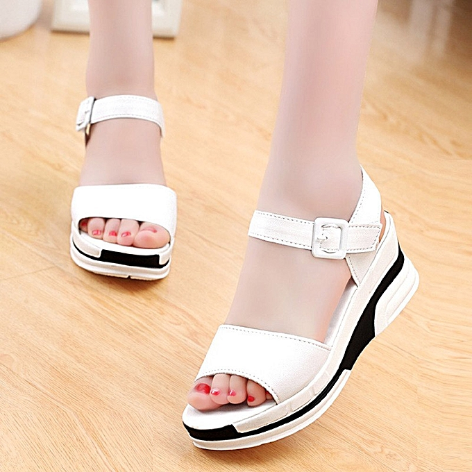 177434bfaead4 Xiuxingzi Women s Summer Sandals Shoes Peep-toe Low Shoes Roman Sandals  Ladies Flip Flops ...