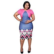 Multicolor Mid Length Dress
