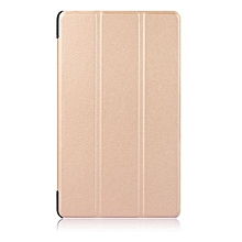 """For 2017 Huawei M3 Lite 8.0 Case, Ultra Slim Case + PU Leather Smart Cover Stand Auto Sleep/Wake For 8.4"""" Mediapad M3 Lite 8.0, Gold"""