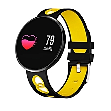 CF006H Bluetooth Smart Band Heart Rate Monitor Waterproof Sport Wristband yellow & black