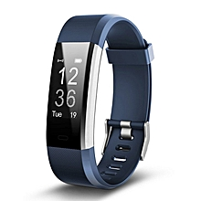 ID 115HR PLUS Smart Wristband Sports Heart Rate Smart Band Fitness Tracker blue