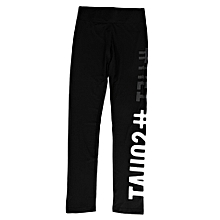 LiftSquat Letter Printed Women Running Yoga Pant Sport Exercise Trouser