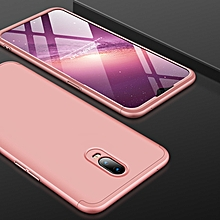 GKK Three Stage Splicing Full Coverage PC Case for OPPO R17 (Rose Gold)