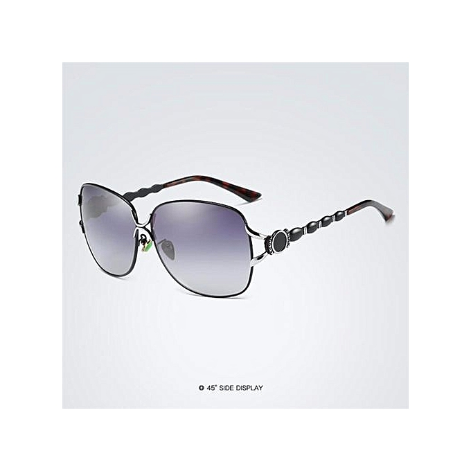 366e002a5c Sunglasses Women Fashion Polarized Glasses Brand Metal Spectacles Driving  Steampunk Sunglasses Outdoor Fishing Glasses(Black