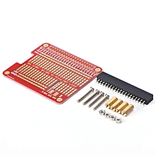 Raspberry Pi 3 Compatible PI3/PI2 model B HAT/Hole plate prototyping board red
