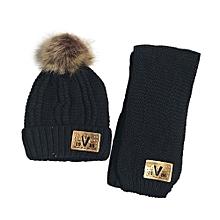 2ca50744f70 2Pcs Baby Cute Winter Kids Baby Hats Keep Warm Set Cute Hat Scarf