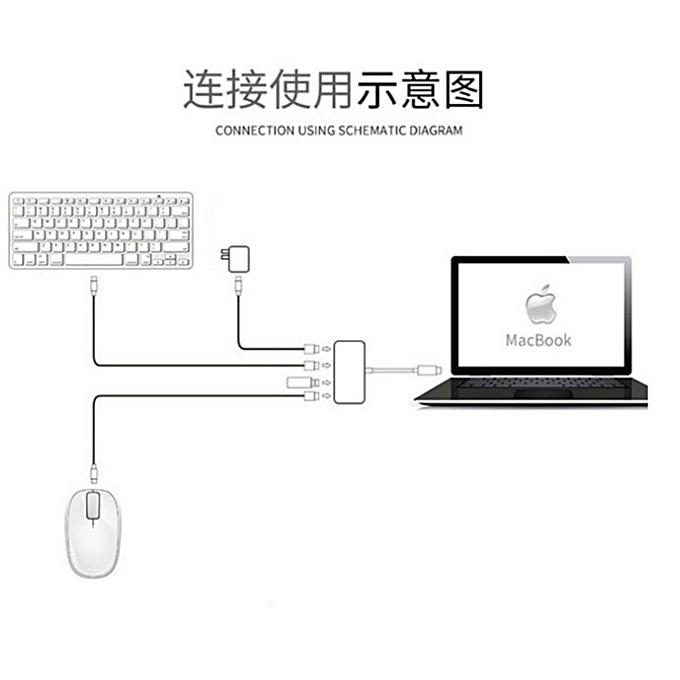 "High compatibility USB 3 1 Type-C to USB-C USB3 0 3 Ports Type C ToUSB 3 0  HUB Adapter for Apple New MacBook 12"" New MacBook Pro 13""15"" Google"