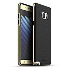 "For Samsung Galaxy Note 7 Case TPU + PC Frame Silicon Case Cover For Samsung Galaxy Note7 5.8"" Dual Layered Shell(Gold)"