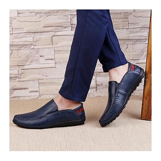 52cf6487f99 Fashion Size Men Genuine Leather Comfortable Slip On