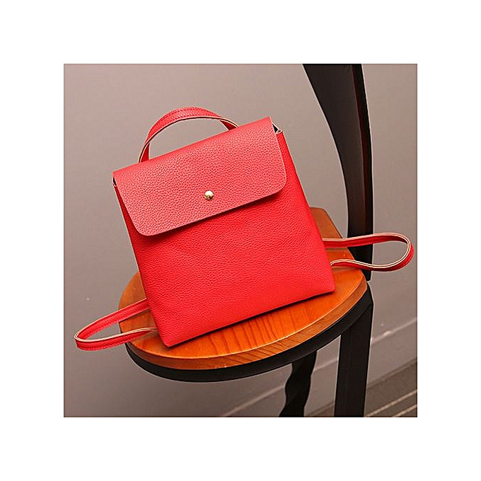 a660ff26f6a8 ... Zetenis Women Leather Satchel Shoulder Backpack School Rucksack Bags  Travel Red -Red ...