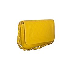 Fluorescent Yellow Shoulder Chain Bag