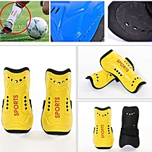 2Pcs Soft Light Football Shin Pads Soccer Guards Sports Leg Protector Kids Adult Yellow