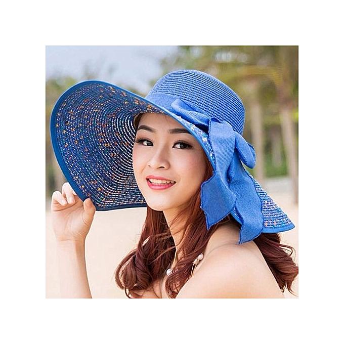 Elegant Fashion Seaside Sun Visor Hat Female Summer Hats For Women Large Brim Straw