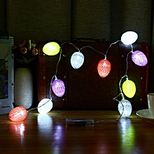 1.8M 10 LED Easter Egg Fairy String Lights Lamp Xmas Wedding Party Outdoor Decor