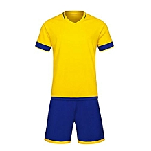 Customized World Cup Football Soccer Team Training Children And Men Sports Jersey-Yellow