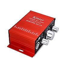 Mini Stereo Audio Car Power Amplifier Speaker 12V 100W - Red