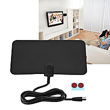 Indoor HDTV Antenna Flat Digital UHF Signal Indoor TV Antenna Receiver 50 Miles Range 720P/1080P/1080I/4K