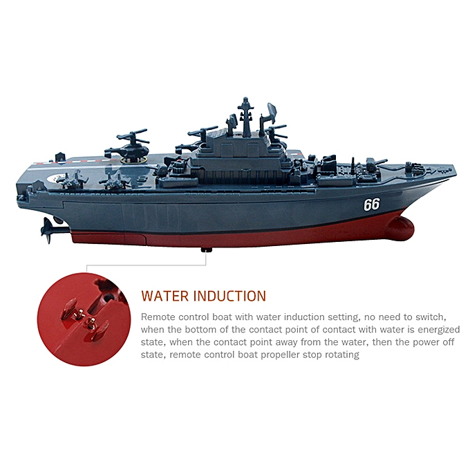 Braveayong Remote Control Challenger Aircraft Carrier RC Boat Warship  Battleship BU -blue