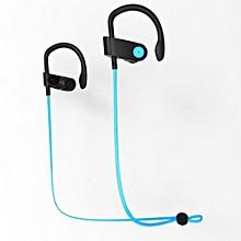 Bluetooth Headphones, S333 Sports Earphone 4.1 Bluetooth Jogging Binaural Headphone Hanging Ear(Blue)