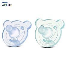 Philips Avent SCF194/04 2pcs Baby Nipples Pacifier Silicone BPA Free Soother - BLUE GREEN