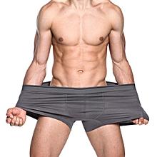 Big Size Cotton U Convex Breathable Comfy Boxer Briefs for Men
