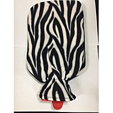 Hot Water Bladder Bottle with cover 2L - Zebra Print