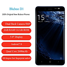 BLUBOO D1 5.0 Inches 2G+16G 8.0MP  Android 7.0 Quad Core Fingerprint Dual Cameras 2600mAh Cellphone