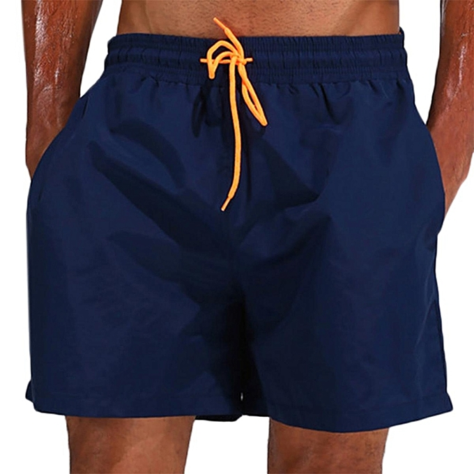 Loose Water Repellent Thin Sport Drawstring Solid Color Trunk Beach Shorts  For Men M-3XL 668ae0f8804