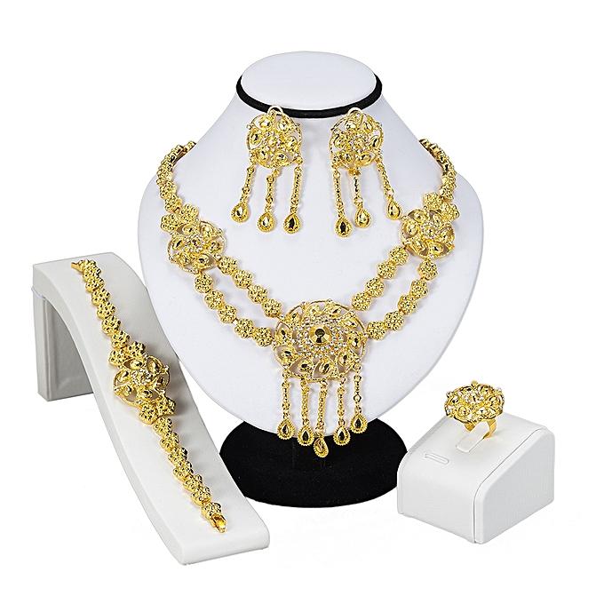 88fe4f6e13de1 Fashion Fashion Dubai Gold Jewelry Set Golden Wedding Nigeria ...