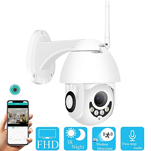 BESDER Two Way Audio PTZ WiFi IP Camera 2MP Wireless Outdoor Speed Dome  CCTV Security Camera support FTP ONVIF App ICSee(1080P 32GB 2A Power)