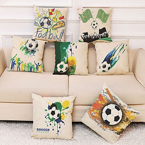Generic 2018 Russia World Cup Home Decor Cushion Pillow Case Soccer Covers For Bedroom Sofa