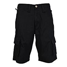 Black Men's Cargo Shorts
