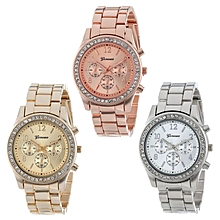 bluerdream-3 PACK Geneva Silver Gold And -Rose Gold