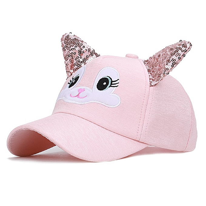90334a332 Cute ears Baseball Hat for Boy Girls Caps Kids Summer Hats Boys Peaked  toddler Baby Snapback child girl caps Trucker Cap 2019
