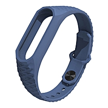 New Strap For Xiaomi MI Band 2 Smart Wristbands Silicone Wrist Strap Replacement Bracelet Strap -Blue