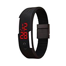 LED Electronic Sport Watch Silicone Digital Sport Bracelet Wristwatch-Array