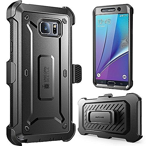 best website 5ef8e 2cb98 Supcase Samsung Galaxy Note 5 Case Belt Clip Holster Case Cover With Screen  Protector/Bumpers(Black)