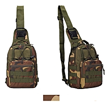 singedanMen's Military Tactical Backpack Shoulder Camping Hiking Camouflage Bag G -Camouflage