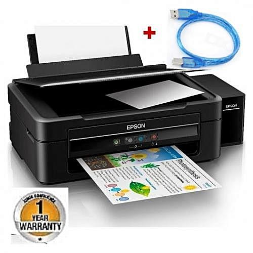 L382 - InkTank Color Print&Scan& copy+USB print Cable- Black