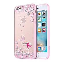 Mooncase Case For Apple IPhone 6 Plus / 6s Plus Rhinestone Soft TPU Bling Glitter Transparent Back Case Cover Swallows