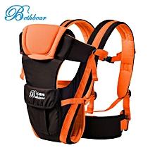 Multipurpose Adjustable Buckle Mesh Wrap Baby Carrier Backpack-Orange